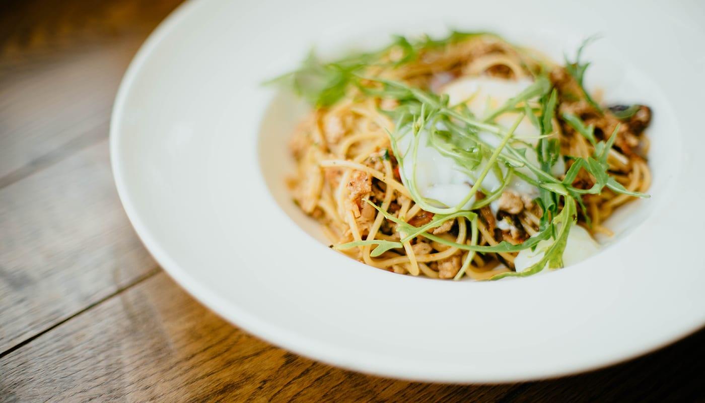 Recette minceur de pâtes au sarrasin, tofu et champignons