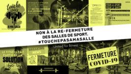 Covid-19 : «Touche pas à ma salle de sport » ! Tous touchés, solidaires, mobilisés